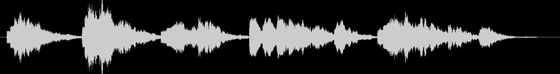 寂しげなエレクトリックピアノ曲の未再生の波形