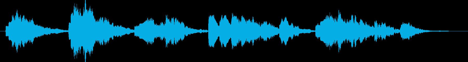 寂しげなエレクトリックピアノ曲の再生済みの波形