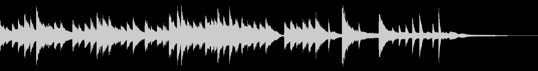 星夜をイメージしたバラードピアノジングルの未再生の波形
