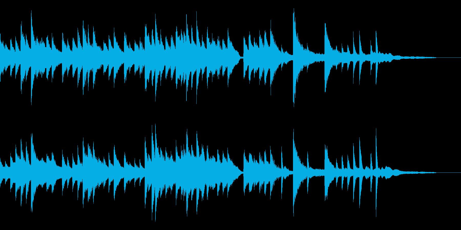 星夜をイメージしたバラードピアノジングルの再生済みの波形