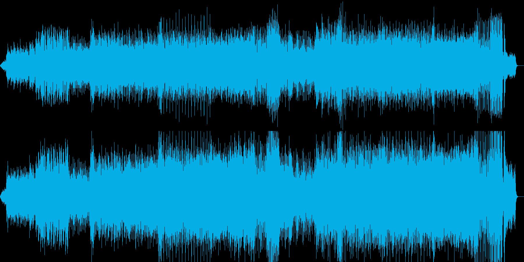 琴がメインの和風な戦闘曲の再生済みの波形