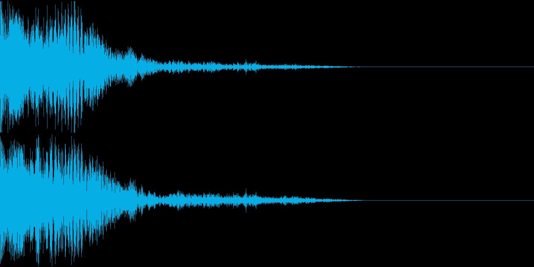 爆発 ドカーン ドーン 衝撃 機械的14の再生済みの波形