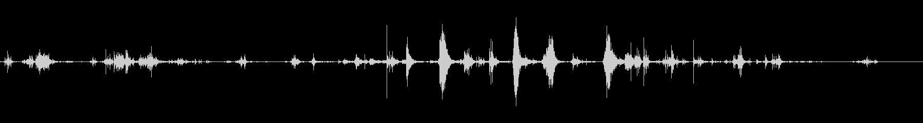 バスタブスプラッシュの未再生の波形