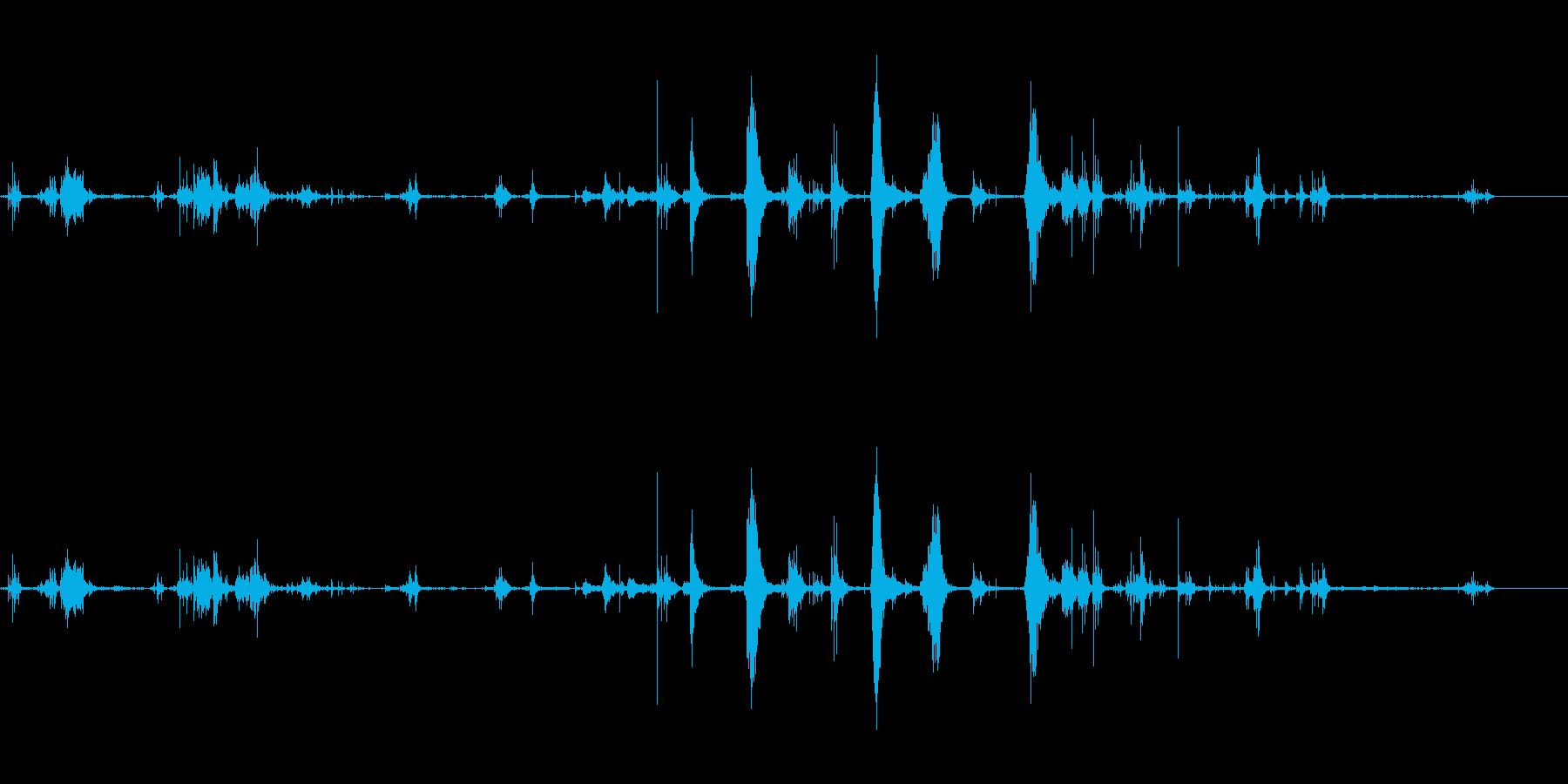 バスタブスプラッシュの再生済みの波形