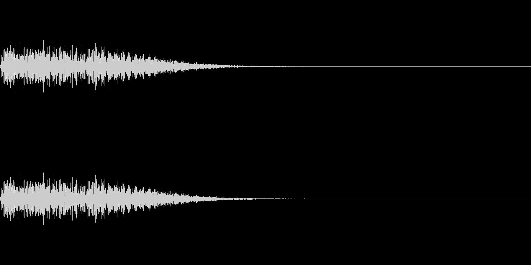 ピアノのエラー音:パソコン音質の未再生の波形
