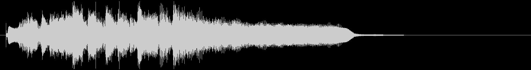 かっこいいテナーサックスのサウンドロゴの未再生の波形