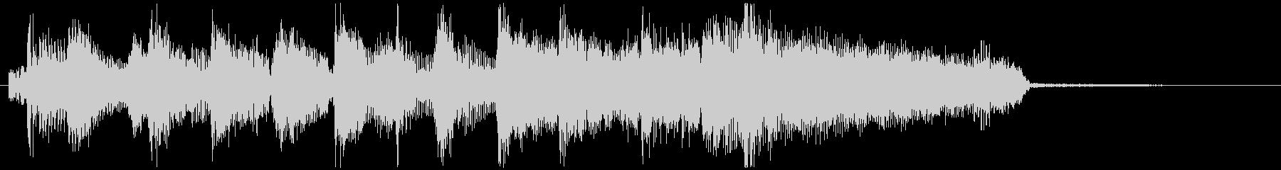 場面転換レトロなオルガンのジャズジングルの未再生の波形