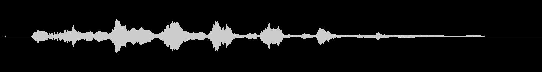 寂しい時に発するプードルの奇妙な鳴き声の未再生の波形