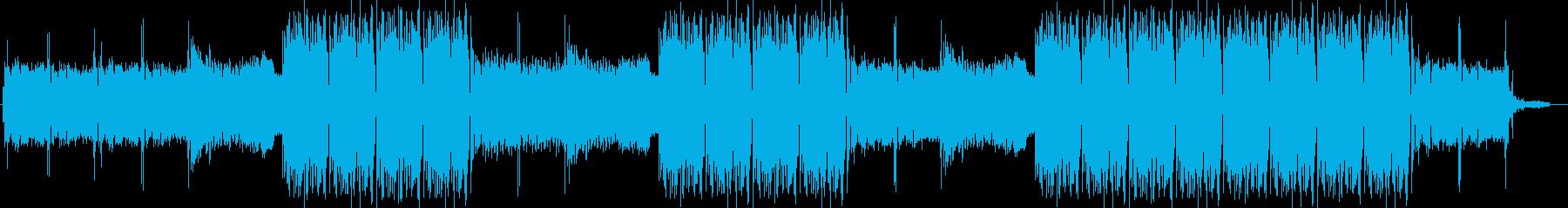 EDMクラブ系ダンスミュージック-04の再生済みの波形