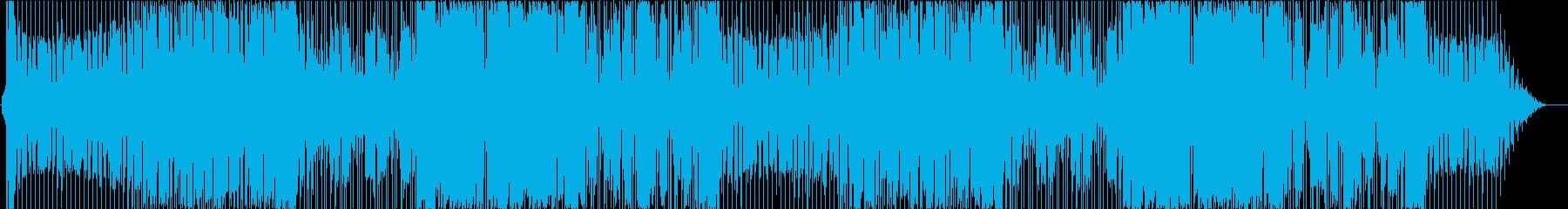 ループ可シンセを交えたハードロックの再生済みの波形