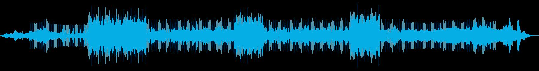 電磁波のようなクラブミュージックの再生済みの波形