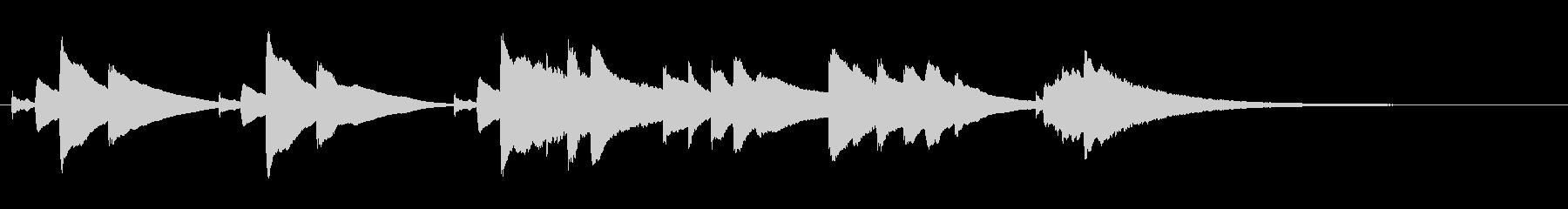 眠くなるオルゴールのBGM(30秒)の未再生の波形
