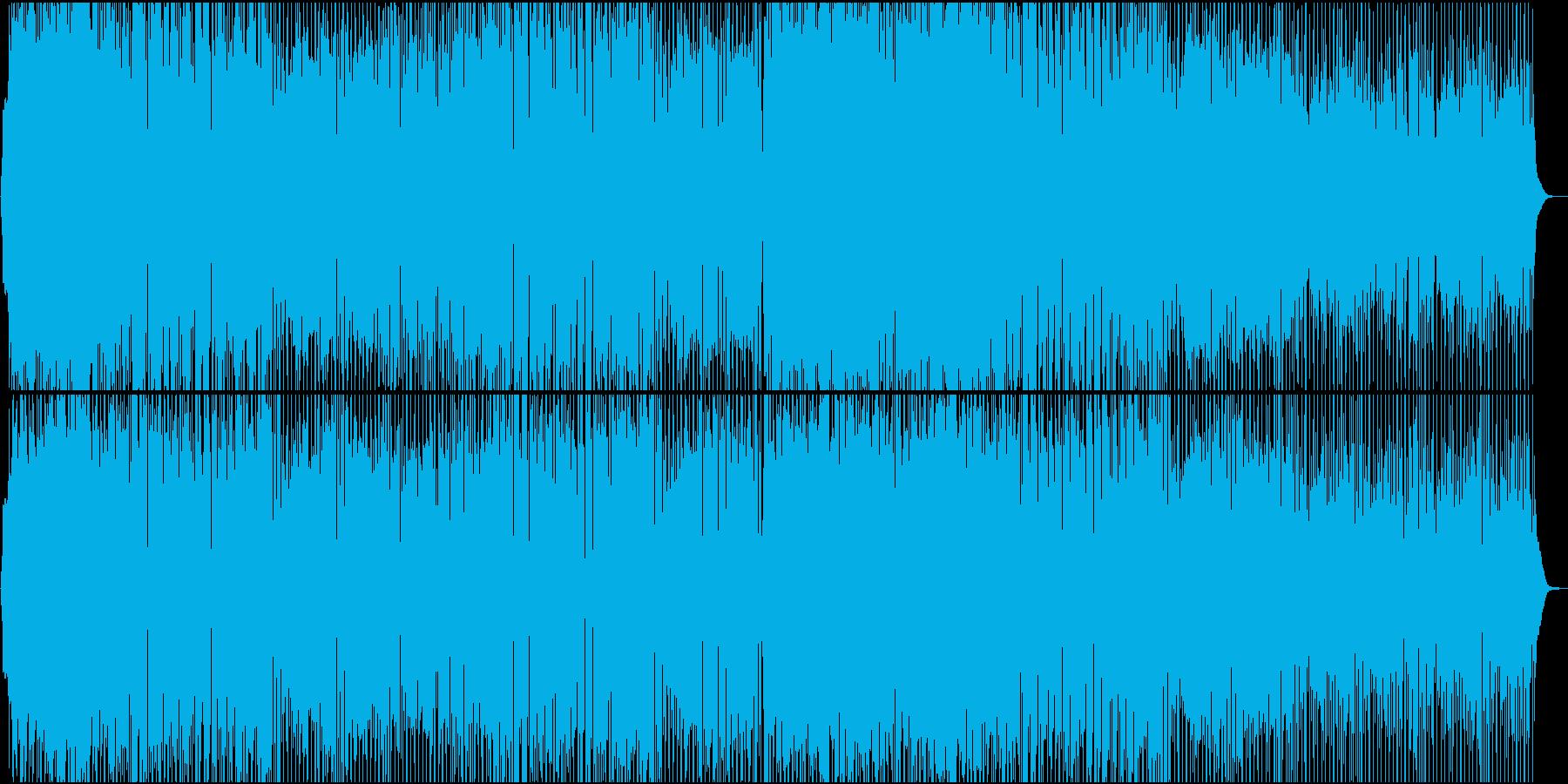 ポップで可愛いおしゃれな日常系BGMの再生済みの波形