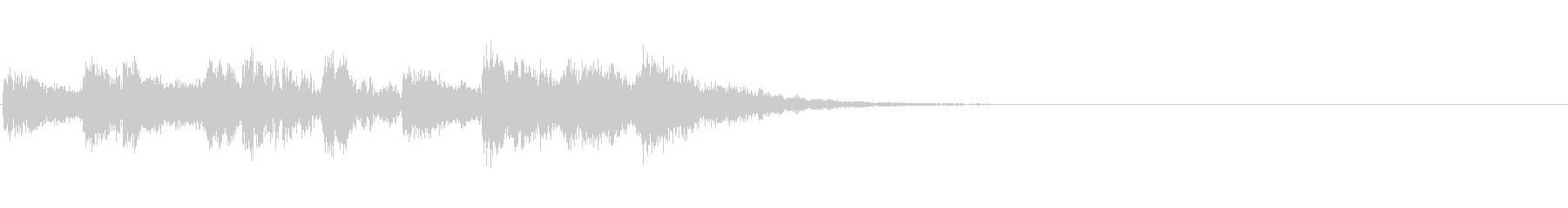 尺八と太鼓のジングルの未再生の波形