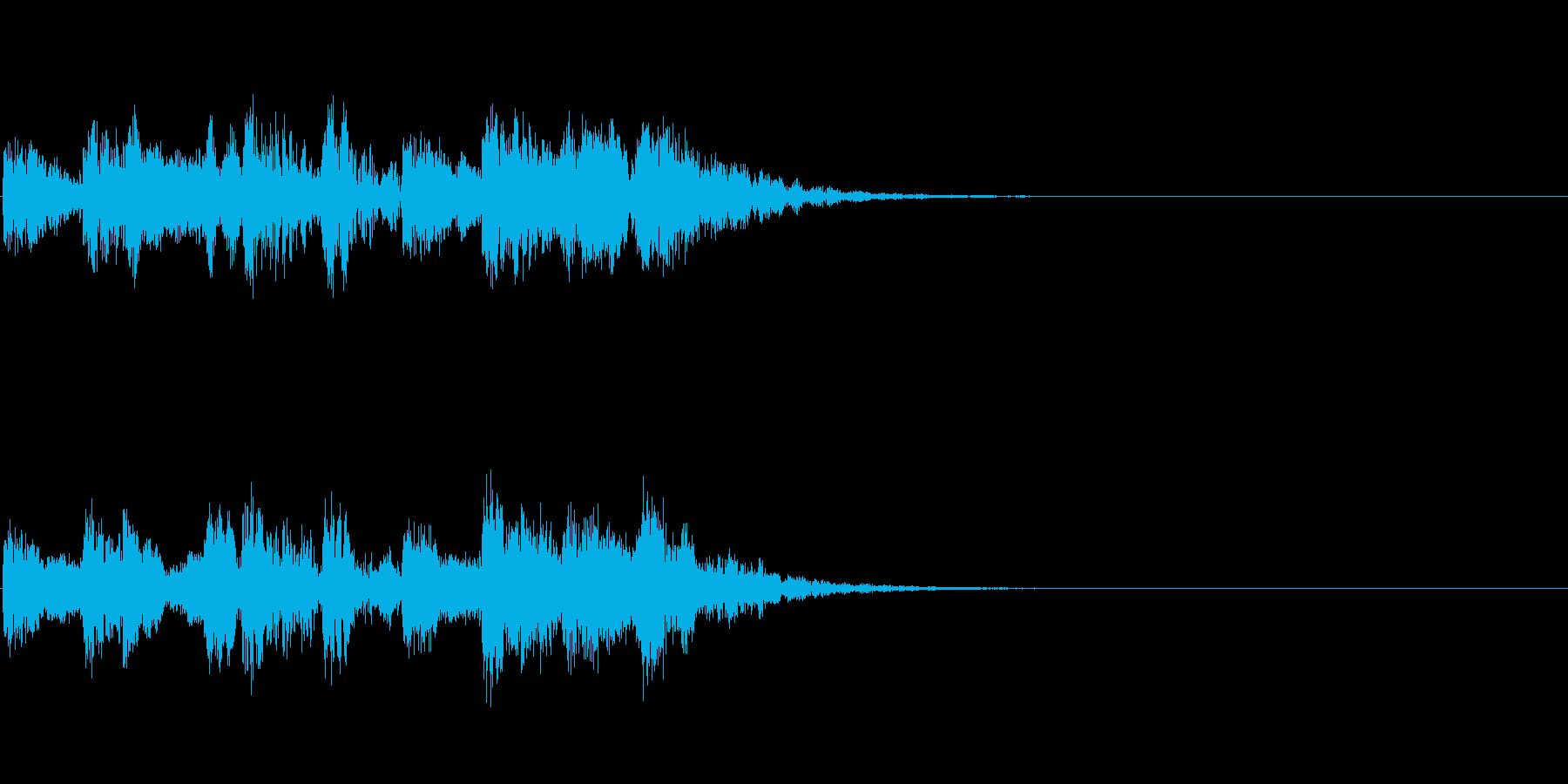 尺八と太鼓のジングルの再生済みの波形