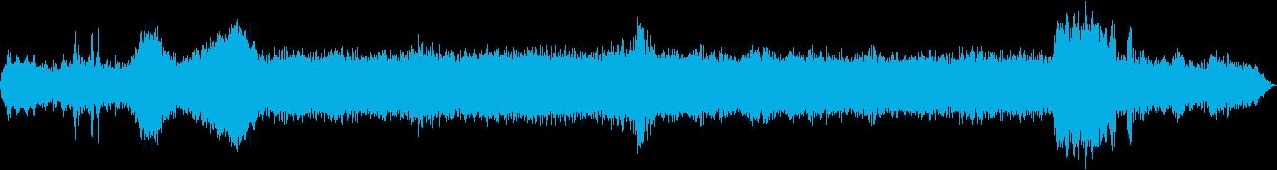 INT:加速、安定した速度で駆動、減速の再生済みの波形