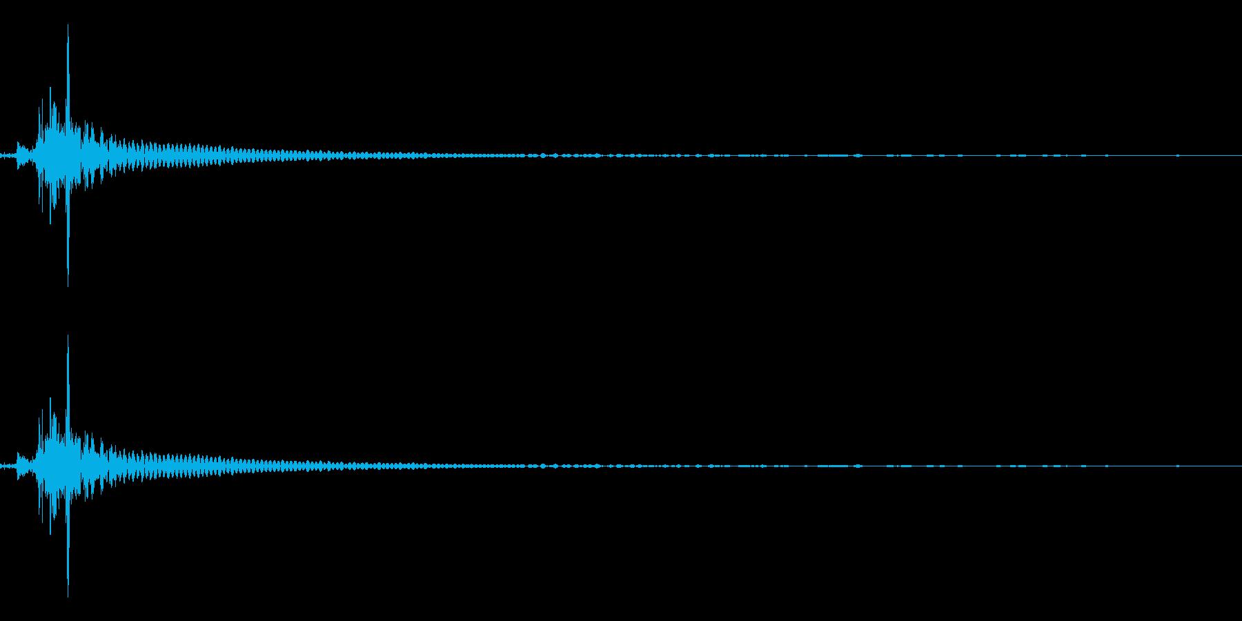 ビンを開ける音(ポン、キュポ)の再生済みの波形