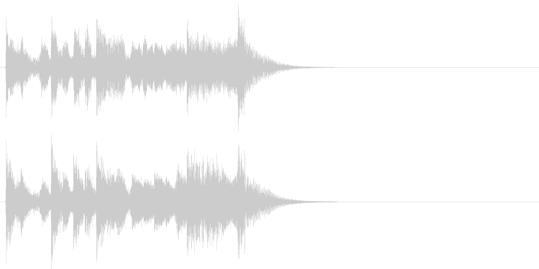 演歌なジングル アイキャッチ 6の未再生の波形