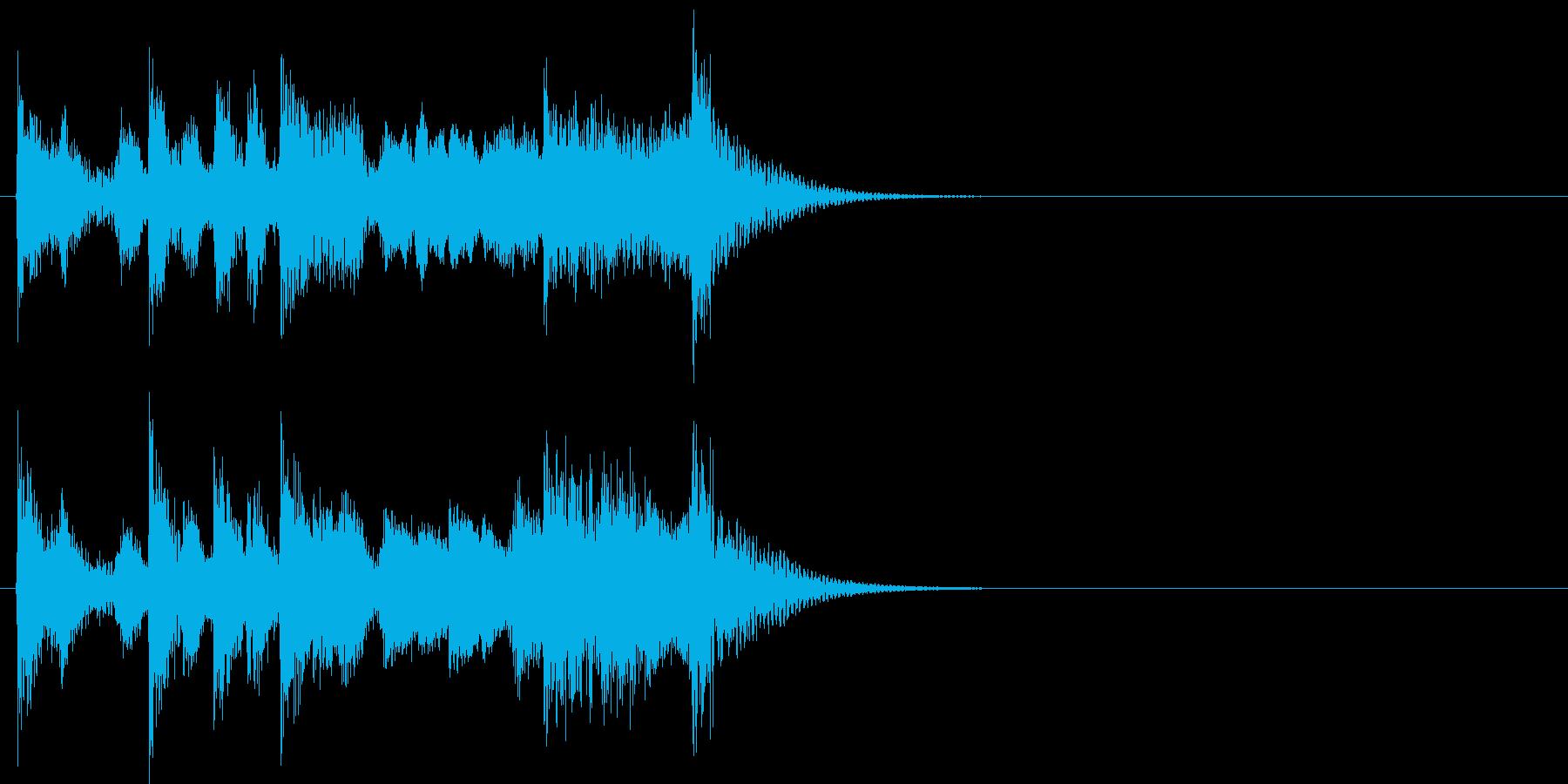 演歌なジングル アイキャッチ 6の再生済みの波形