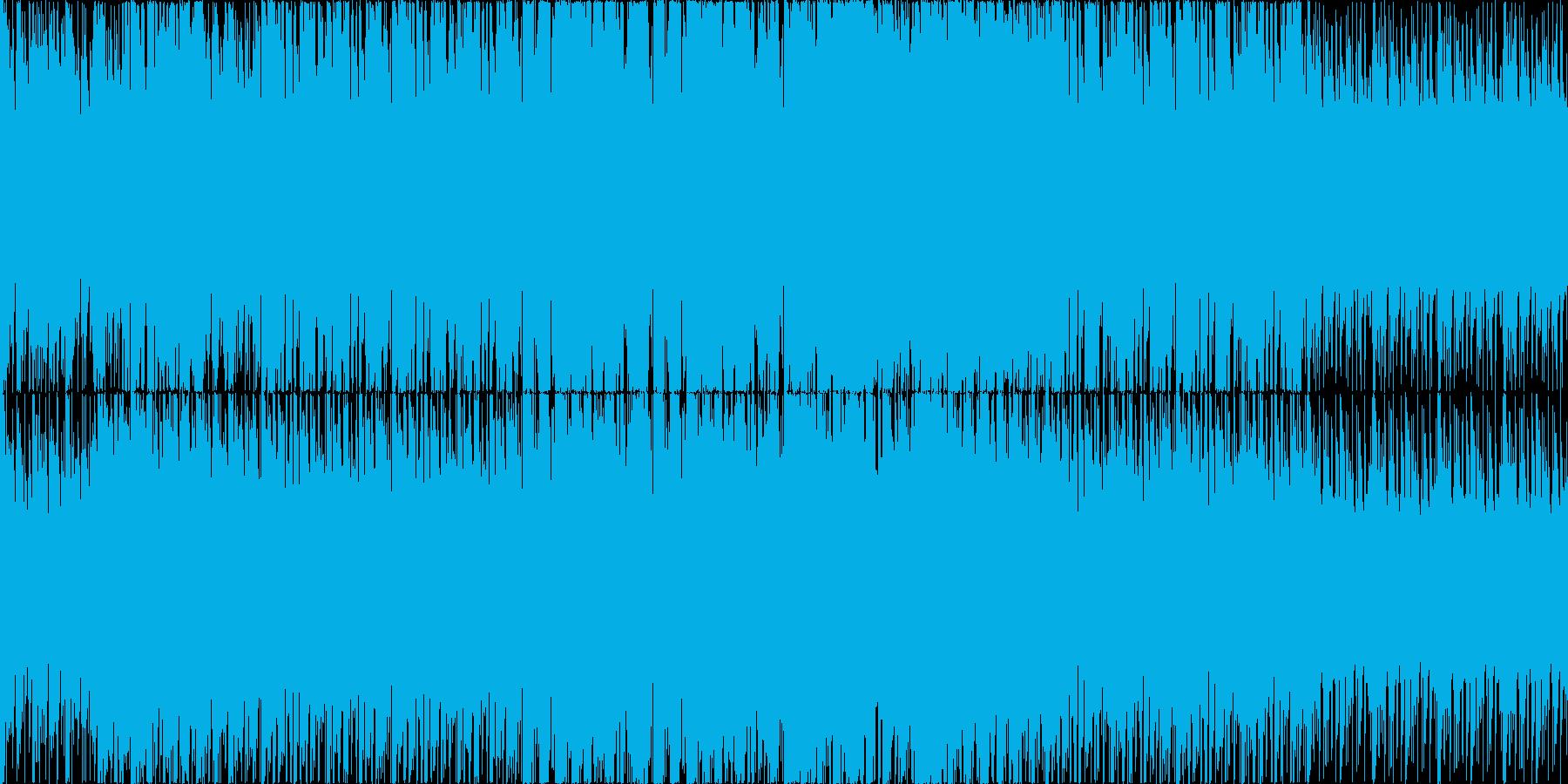 民族楽器を使用した疾走感のあるループ楽曲の再生済みの波形