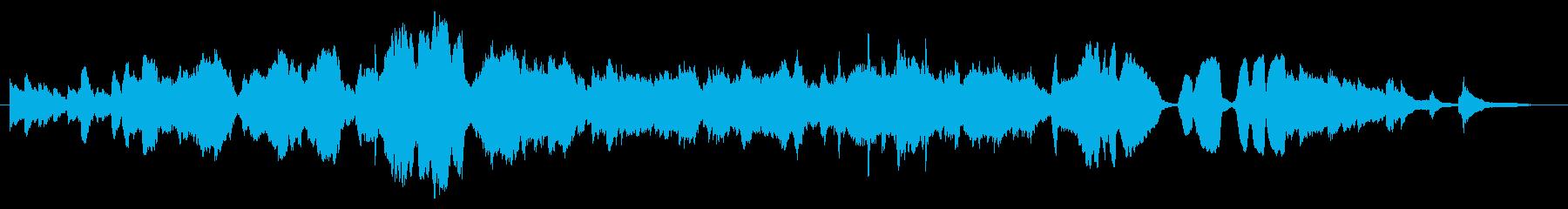 悲しい回想をしているシーン向けBGMの再生済みの波形