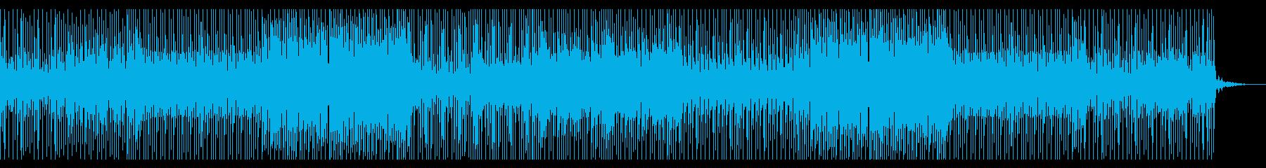 可愛くて元気な感じの曲の再生済みの波形