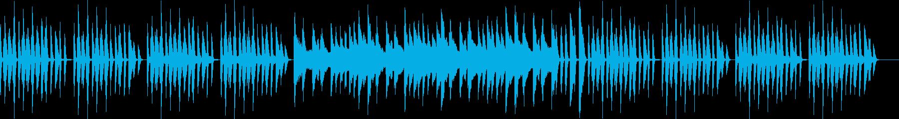 ピアノがメインのほのぼのしたシンプルな曲の再生済みの波形