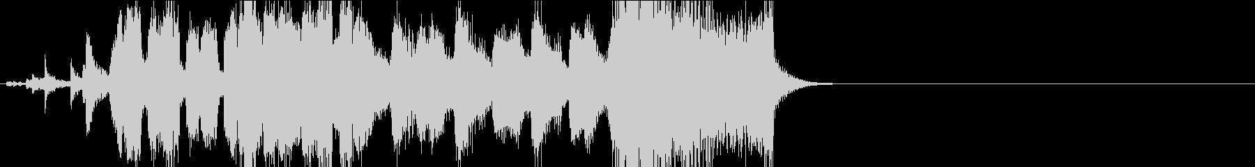 ジャズビックバンドのジングルの未再生の波形