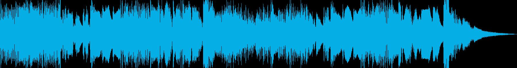 優しいポップスのBGMの再生済みの波形