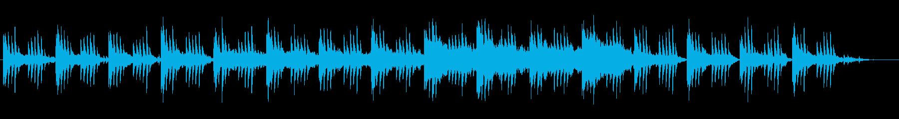 ジブリ風メロディーの幻想的なピアノ曲の再生済みの波形