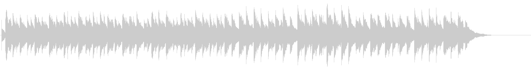 クリスマス曲「ジングルベル」オルゴールの未再生の波形