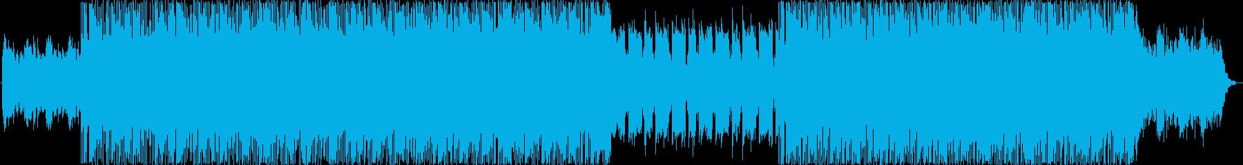 疾走感のあるドラムンベースBGMの再生済みの波形