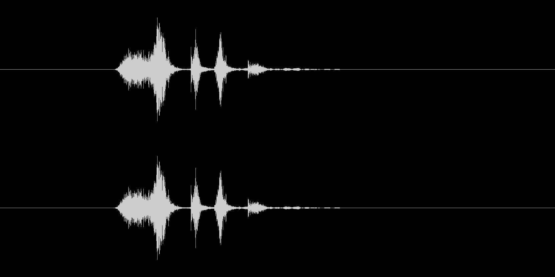 シュクチュクの未再生の波形