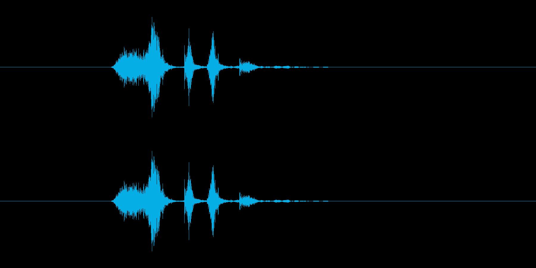 シュクチュクの再生済みの波形