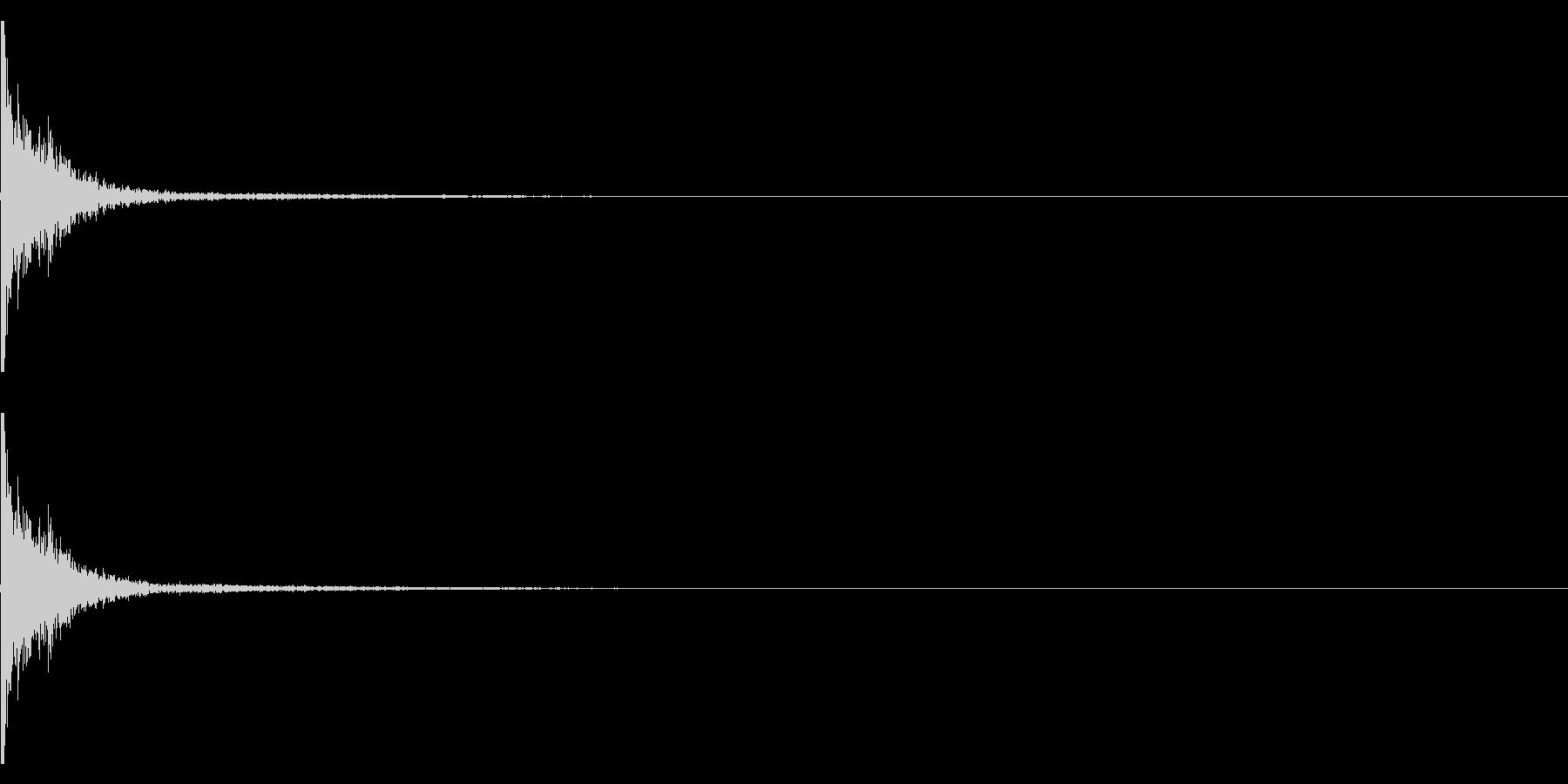 【生録音】映画のカチンコの音 2の未再生の波形