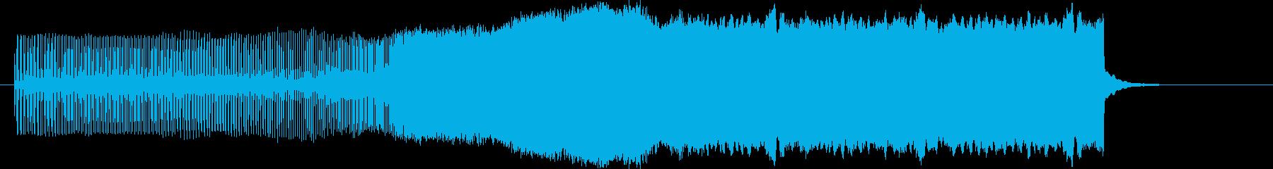 ピィーーーーーーーン(上昇)の再生済みの波形
