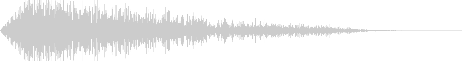 グォーン(巨大な地響き音B)フェードインの未再生の波形