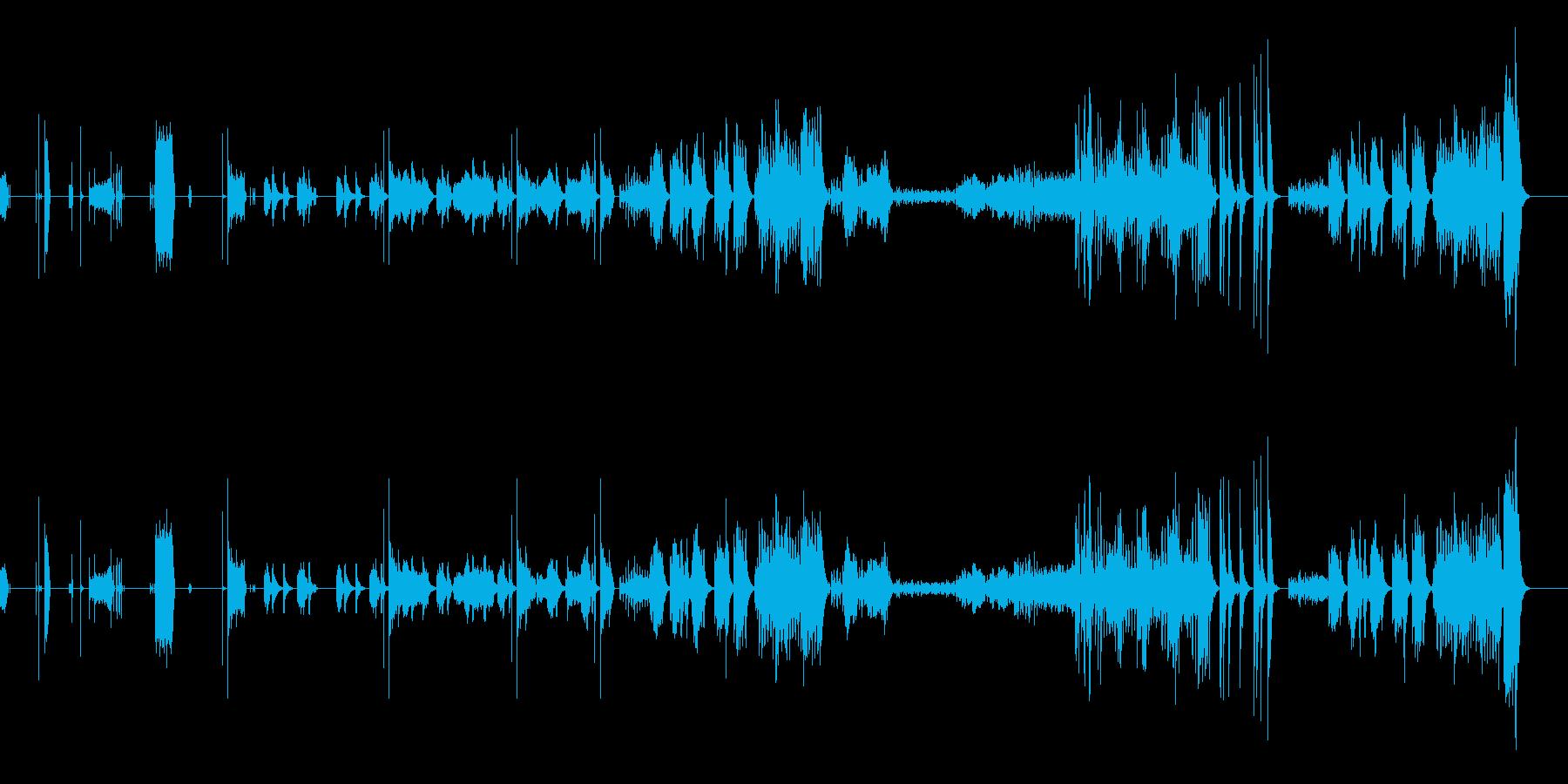 オーボエ・弦・打楽器・ピアノの七重奏の再生済みの波形