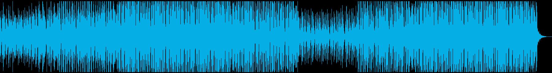 ハウスミュージックの再生済みの波形