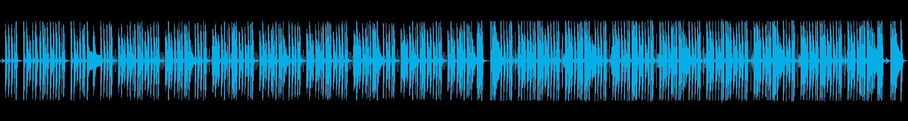 まったり・ぐだぐだな日常系ピアノ曲の再生済みの波形