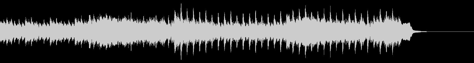 広告動画に使える爽やかなピアノの4つ打ちの未再生の波形
