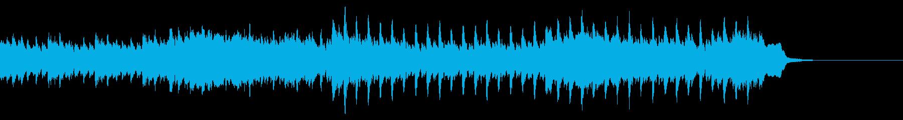 広告動画に使える爽やかなピアノの4つ打ちの再生済みの波形