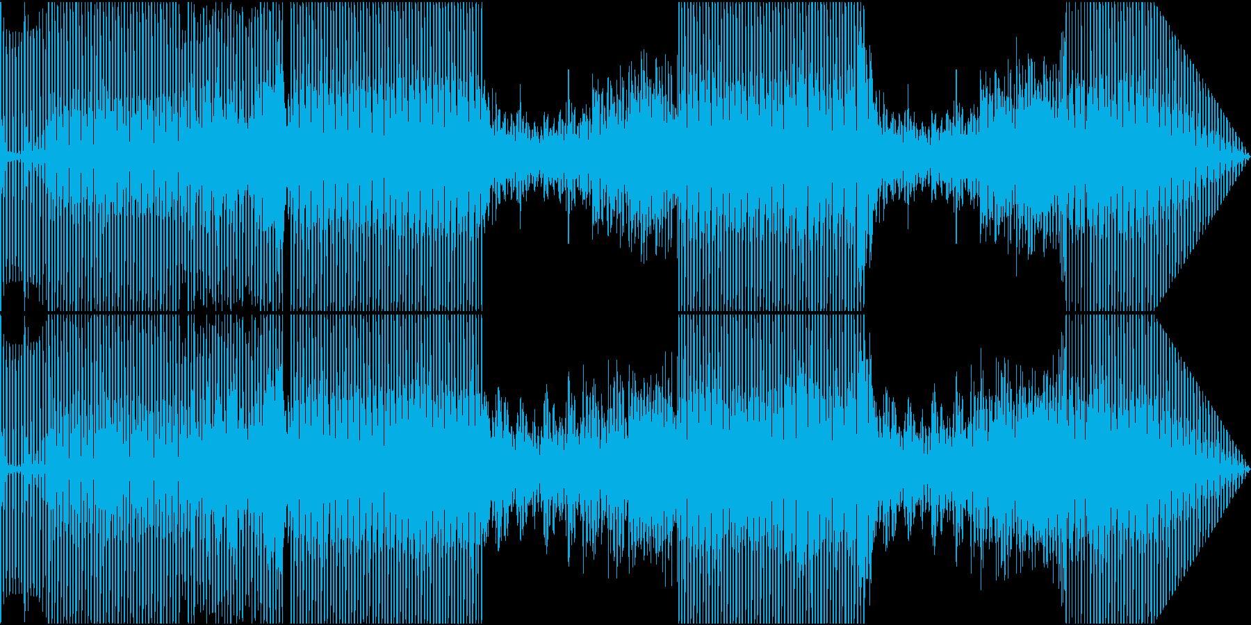 軽快なリズムのハウストラックの再生済みの波形