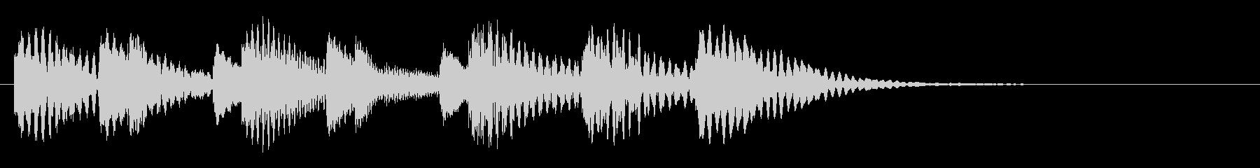 木琴 可愛い ほのぼの 日常 ジングル の未再生の波形