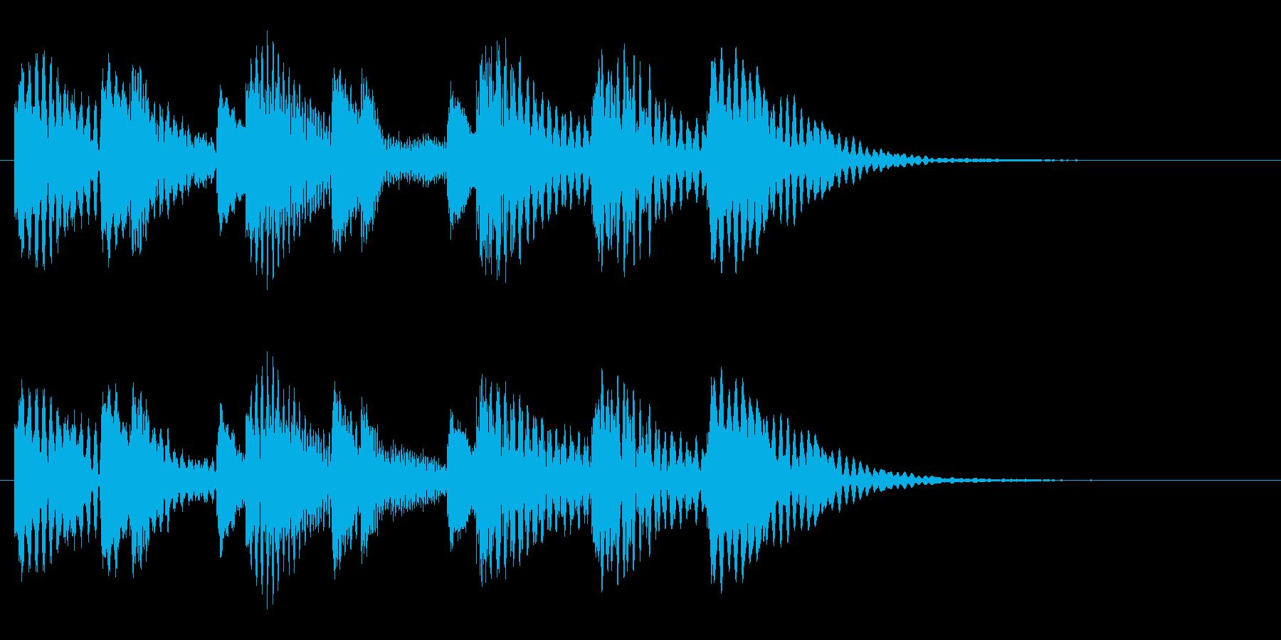 木琴 可愛い ほのぼの 日常 ジングル の再生済みの波形