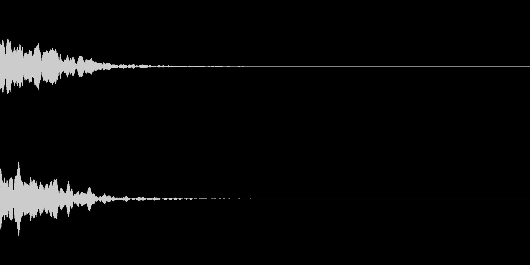 ゲームアプリ選択決定音【2-6】ピーンの未再生の波形