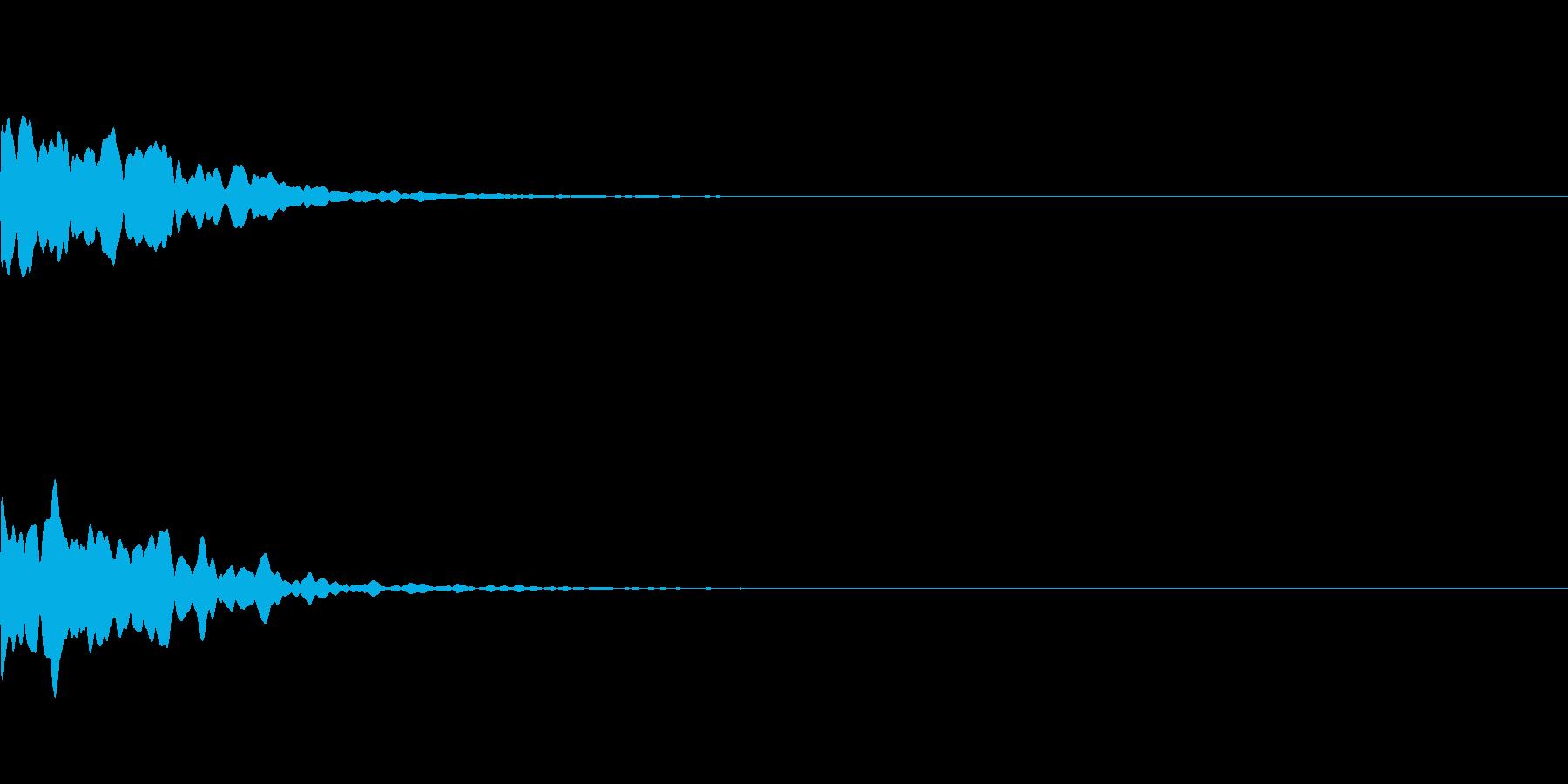 ゲームアプリ選択決定音【2-6】ピーンの再生済みの波形