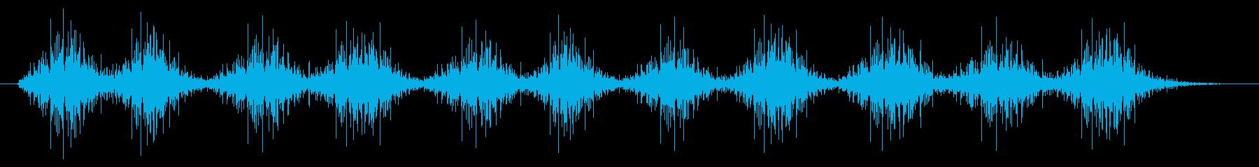 風が通る音、木琴の音(楽器、アジア)の再生済みの波形