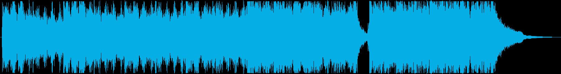 神秘的で緊迫のピアノとパーカッション曲の再生済みの波形