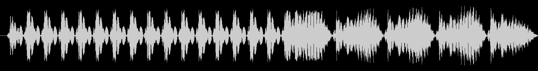 機械的な選択・決定音 ビコの未再生の波形